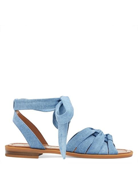 Nine West Bağcıklı Sandalet Mavi
